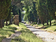 Biking Prints - Appian Way in Rome Print by David Smith