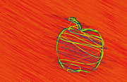 Best Sellers Digital Art Prints - Apple-01 Print by Eakaluk Pataratrivijit