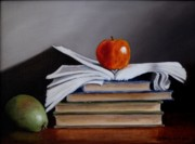 Oils Digital Art Originals - Apple a Day by Jan  Brieger-Scranton
