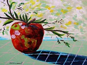 Portfolio Paintings - Apple and Shadow by John  Williams