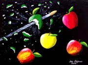 Bullet Painting Prints - Apple Blast Print by Teo Alfonso