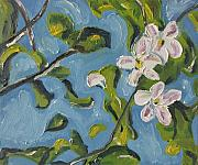 Francois Fournier Paintings - Apple Blossom by Francois Fournier