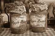 Table Cloth Prints - Apple Butter in Sepia Print by Douglas Barnett
