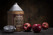 Fresh Fruit Posters - Apple Cider Still Life Poster by Tom Mc Nemar