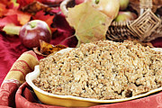 Oatmeal Posters - Apple Crisp Poster by Stephanie Frey