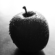 Purchase Prints - Apple in Black and White Print by Zoe Ferrie