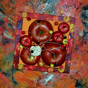 Beads Mixed Media Prints - Apple Jam Print by Sveta Shved
