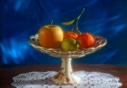 Fruit Arrangement Prints - Apple lemon and mandarins. Valencia. Spain Print by Juan Carlos Ferro Duque