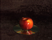 Disk Digital Art Posters - Apple Poster by Peter Chilelli