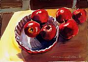 Interior Still Life Painting Metal Prints - Apple Pie 2 Metal Print by Doranne Alden