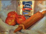 Pie Paintings - Apple Pie by Nora Sallows