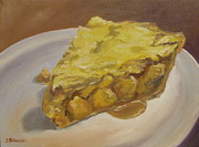 Pie Paintings - Apple Pie by Steven Guy Bilodeau