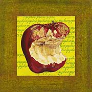 Food And Beverage Mixed Media Originals - Apple Series Number Four by Sonja Olson