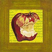 Food And Beverage Mixed Media Originals - Apple Series Number Three by Sonja Olson