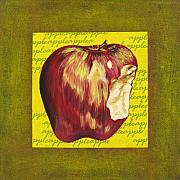 Food And Beverage Mixed Media Originals - Apple Series Number Two by Sonja Olson