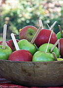 Wooden Bowl Framed Prints - Apple Sticks Framed Print by Tam Ishmael - Eizman