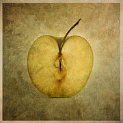 Foodstuffs Posters - Apple textured Poster by Bernard Jaubert