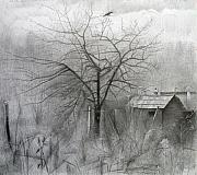 Early Drawings Originals - Apple-Tree. 2008 by Yuri Yudaev