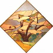 Spring Glass Art - Apple Tree by Howard Mendelson