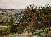 Apple Trees Near Vetheuil Print by Claude Monet