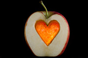 Passion Fruit Posters - Apple with a heart Poster by Mats Silvan