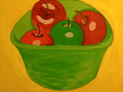 Food And Beverage Pastels - Applebottom Bowl by Cynthia Walker-Wiggins