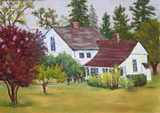 Old House Pastels Posters - Applegate House Poster by Nancy Jolley