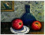 Gail Kirtz Prints - Apples and Bottles Print by Gail Kirtz