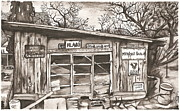 Shack Drawings Prints - Apples Apples Apples Print by Brian Reynolds