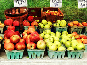 Foods Art - Apples at Farmers Market by Susan Savad