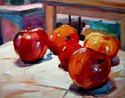 Interior Still Life Painting Metal Prints - Apples Metal Print by Brian Simons