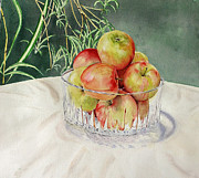 Mark McKain - Apples in Crystal Bowl