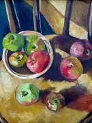 Gala Painting Framed Prints - Apples Framed Print by Judith Scull