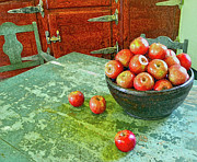 Antique Look Digital Art - Apples  by Karen Francis