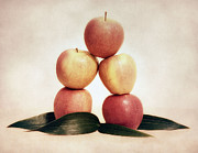 Textured Digital Art Framed Prints - Apples Framed Print by Kristin Kreet