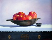 Ebony Paintings - Apples by Marie Dunkley