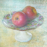 Pleasant Mixed Media Posters - Apples still life print Poster by Svetlana Novikova