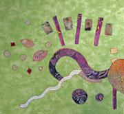 Batiks Tapestries - Textiles - Applique 1 by Eileen Hale