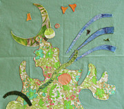 Block Quilts Tapestries - Textiles Posters - Applique 11 Poster by Eileen Hale
