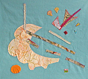 Batiks Tapestries - Textiles - Applique 4 by Eileen Hale