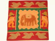 Cushion Tapestries - Textiles Originals - Applique Cushion Cover by Dinesh Rathi