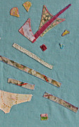 Batiks Tapestries - Textiles Posters - Applique Detail Poster by Eileen Hale
