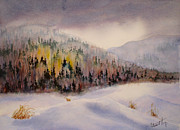 Snow Storm Paintings - Approaching Storm by Mohamed Hirji
