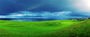 Golf Originals - Approaching Storm over Brora GC by Jan Faul