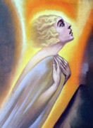 Woman Greeting Cards Posters - Approaching the Light Poster by Munir Alawi