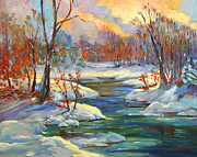 Most Popular Paintings - Approaching Winter by David Lloyd Glover
