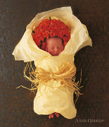 Garden Flowers Photos - Apricot Bouquet by Anne Geddes