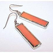 Kelly Originals - Apricot Rectangle Earrings by Kelly DuPrat