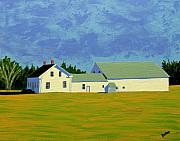 Farm Fields Paintings - April Afternoon Route 17 by Laurie Breton