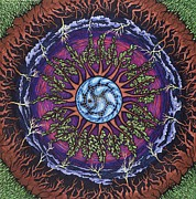 Rain Drawings - April Mandala or April Showers by Jess-o